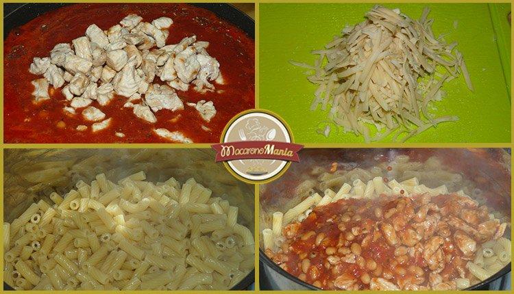 Макароны с фасолью и индейкой в томатном соусе. Пошаговый рецепт. Шаг 5