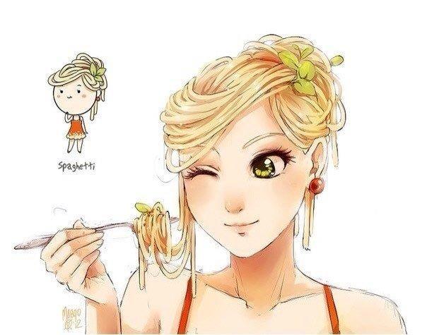 Если бы еда была девушкой. Спагетти