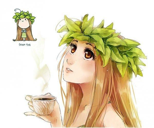 Если бы еда была девушкой. Зеленый чай