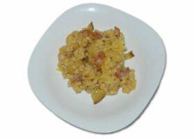 Макароны с беконом в сливочном соусе