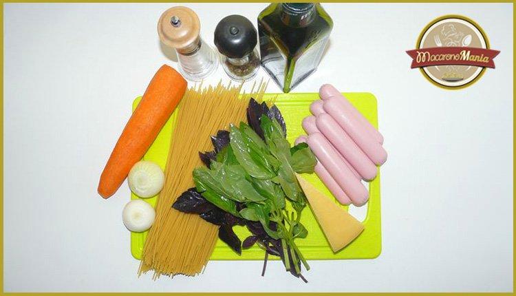 Детские макароны. «Осьминожки» с сыром и базиликовым соусом. Ингредиенты