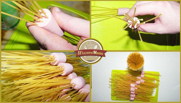 Детские макароны. «Осьминожки» с сыром и базиликовым соусом. Приготовление. Шаг 2