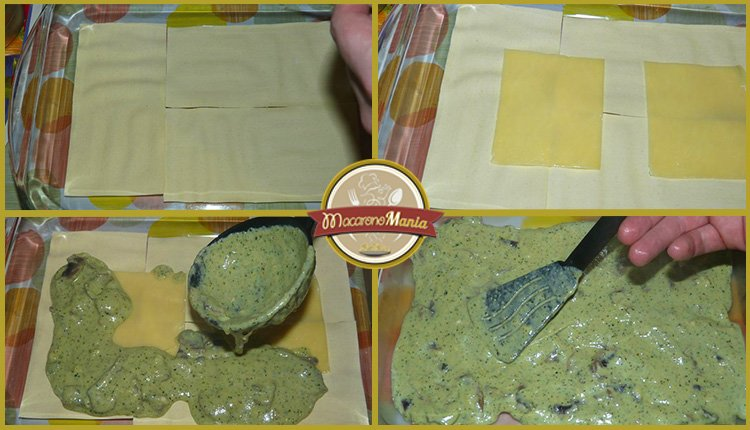 Лазанья с грибами под соусом песто и бешамель. Приготовление. Шаг 8