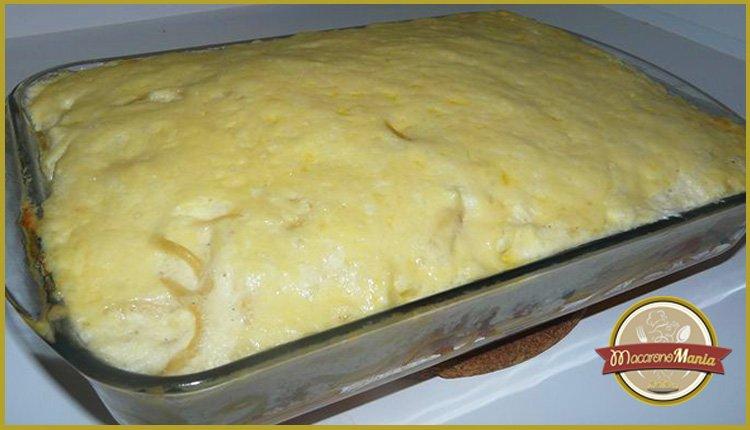 Паститсио или макаронная запеканка в духовке под соусом болоньезе и бешамель. Фото готового блюда