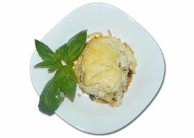 Паститсио или макаронная запеканка в духовке под соусом болоньезе и бешамель. Рецепт с фото