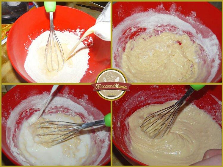 Шпецле (или немецкие клецки), запеченные с беконом и сыром. Приготовление. Шаг 2