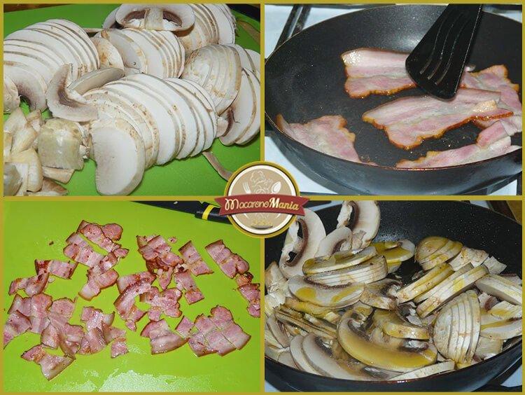 Шпецле (или немецкие клецки), запеченные с беконом и сыром. Приготовление. Шаг 3