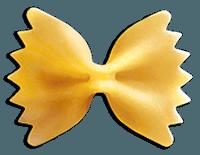 Фарфалле (итал. farfalle — бабочки) макароны бантики