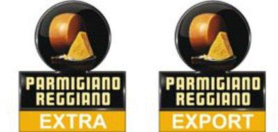 Parmigiano-Reggiano знак настоящего сыра EXPORT и EXTRA