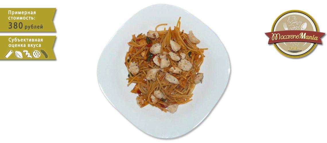 Жареные макароны на сковороде без варки, с курицей и сыром. Пошаговый рецепт с фото. Макарономания