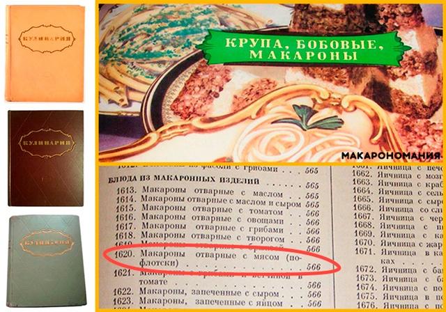 Сборник классических советских рецептов «кулинария» 1955г. Категория «крупы, бобовые и макаронные изделия». Рецепт под номером 1620.
