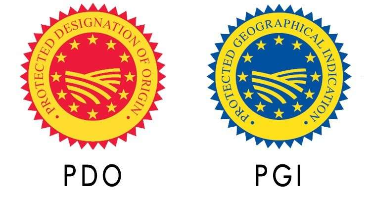 PGI (Protected Geographical Indication). DOP (Denominazione di Origine Protetta)