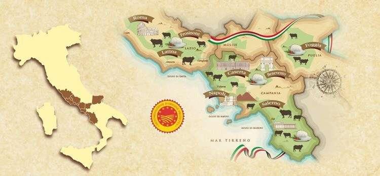 Производство моцареллы в провинциях Италии