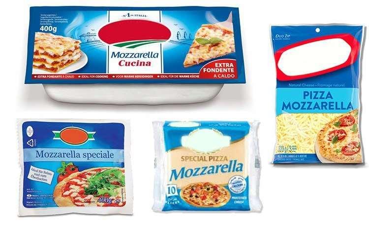 Моцарелла для пиццы или лазаньи.