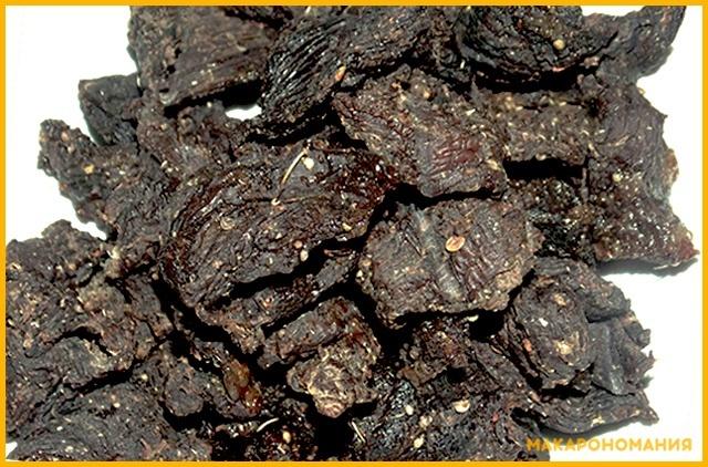Солонина - сушеное говяжье мясо, которое месяцами выдерживали в соли. На флоте