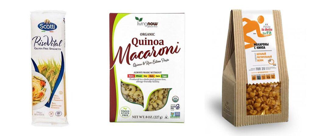 как выглядят макароны из киноа в упаковке или в магазине