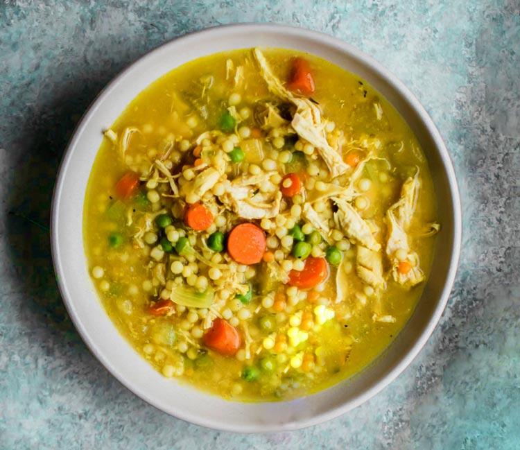 Суп с кускусом и курицей  - рецепт в домашних условиях